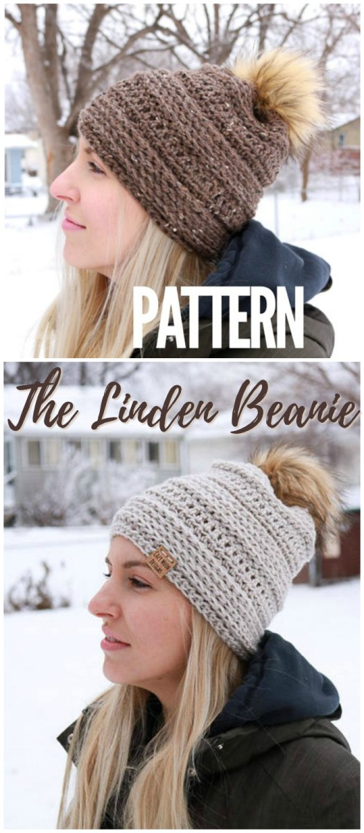 Sweet! The Linden Beanie! I love this pattern! I think I'll make one for my sister! #crochet #hat #pattern #beginner #easy #yarn #crafts #craftevangelist