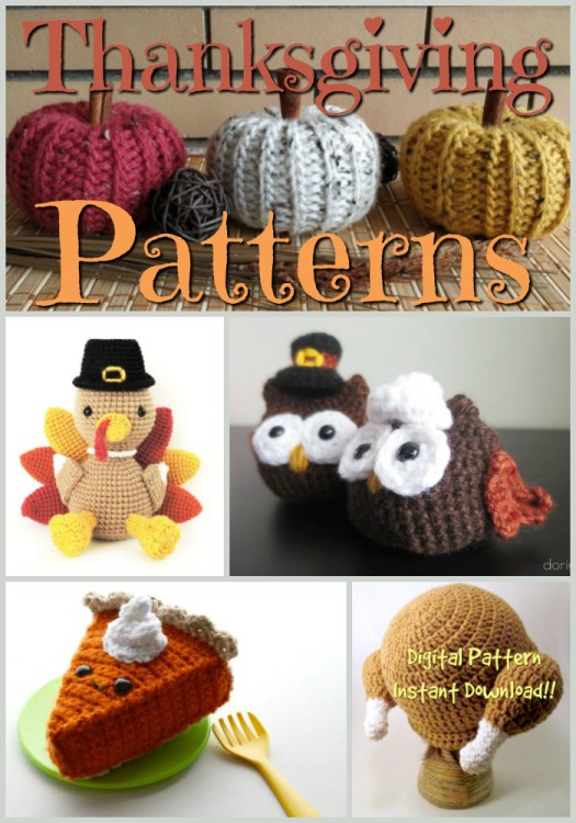 Thanksgiving Themed Patterns to knit and crochet. I love the fun turkey hat! Such a good idea! Check them all out at #craftevangelist!
