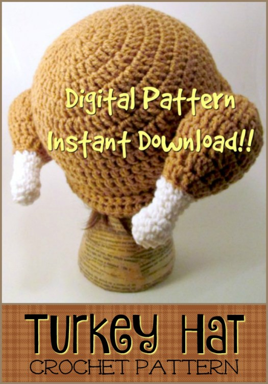Ha! I love this hilarious cooked turkey hat! What a funny pattern for the turkey lover in your life! Perfect thanksgiving gift for dad! #craftevangelist