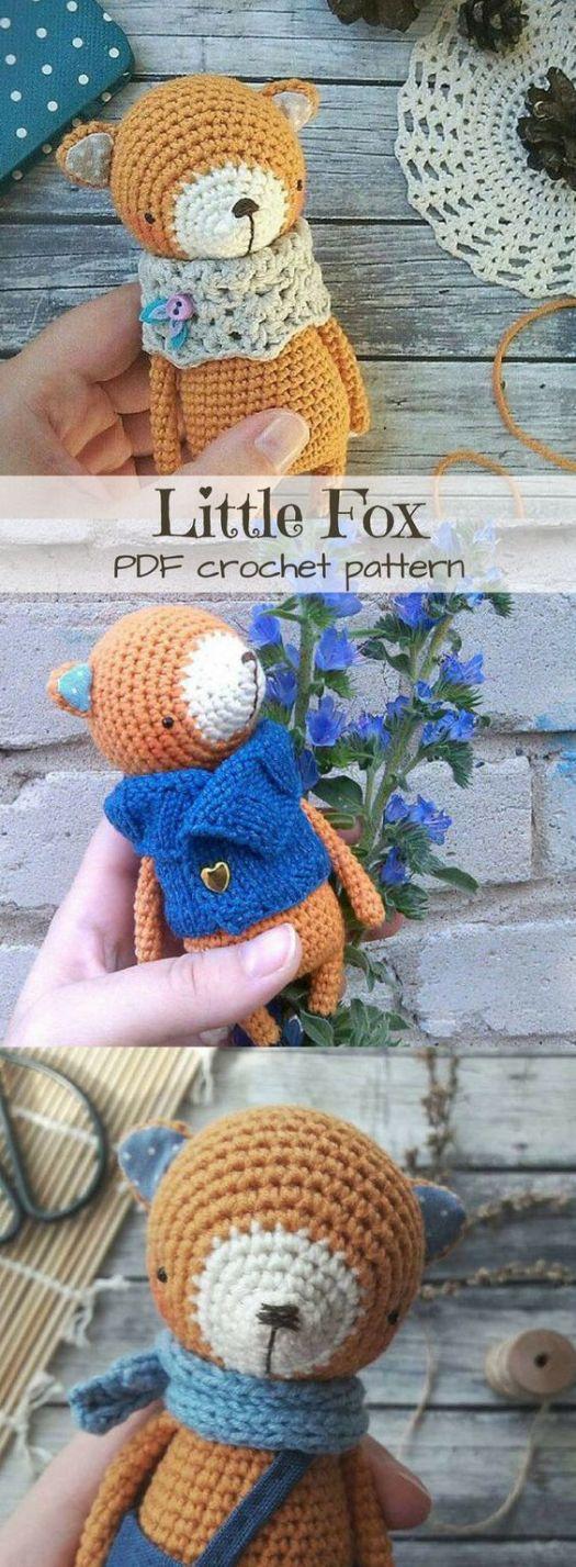 What a sweet little fox amigurumi crochet pattern! Makes a perfect handmade gift idea! #crochet #pattern #amigurumi #stuffies #toys #handmade #fox #fall