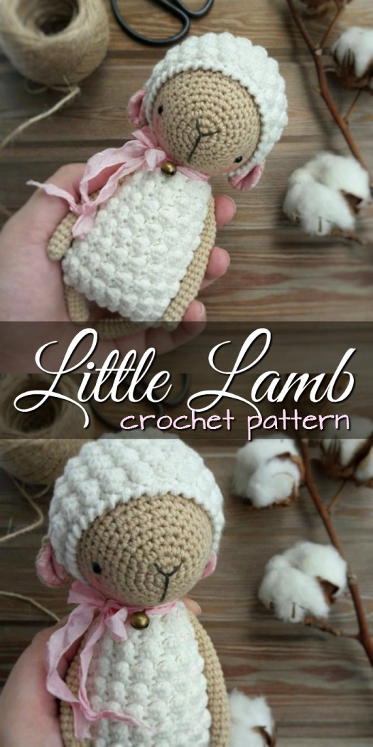 Gorgeous little gentle lamb crochet amigurumi pattern. Love these sweet little patterns from Little Owlet Shop! #crochet #patterns #amigurumi #holiday #christmas #stuffies #toys #handmade #gift #ideas #yarn #crafts #craftevangelist