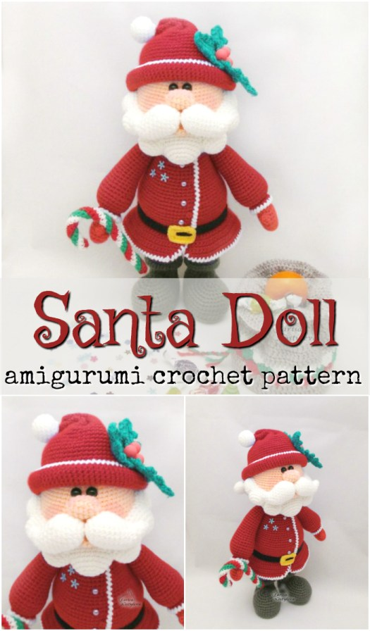 This Santa amigurumi crochet pattern looks just like the Santa from the claymation Rudolf the Red Nosed Reindeer! What a great looking pattern! Nostalgia! #crochet #patterns #amigurumi #holiday #christmas #stuffies #toys #handmade #gift #ideas #yarn #crafts #craftevangelist