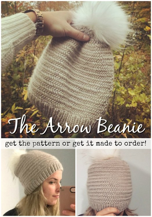 Gorgeous knit hat would make a perfect handmade gift for the holidays! You can get the pattern to make it or have it made to order! #knit #hats #beanie #toque #handmade #giftideas #etsy #craftevangelist