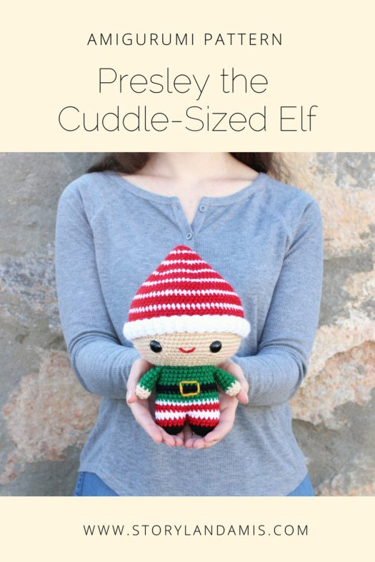 I love this cute amigurumi elf crochet pattern! Perfect little toy for Christmas! #crochet #pattern #amigurumi #crafts #yarn #craftevangelist