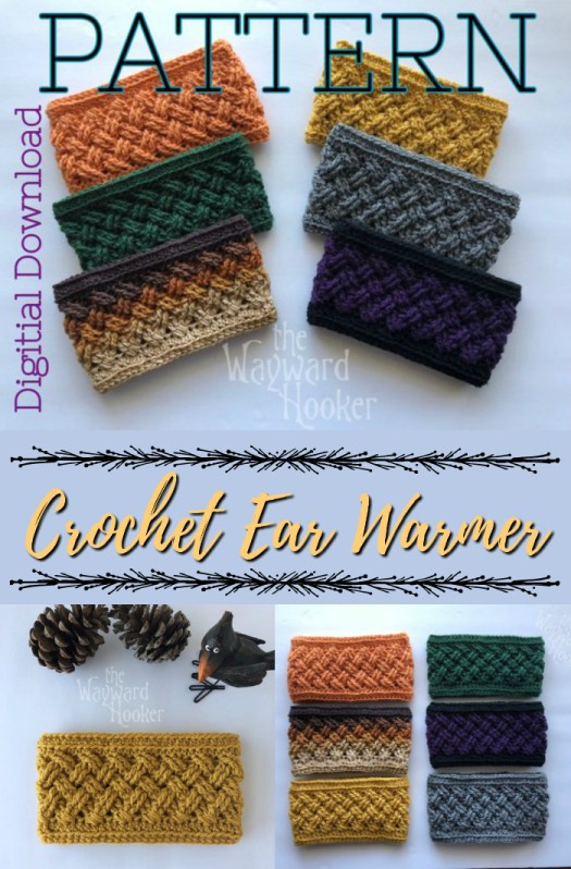 Love this celtic weave crochet headband pattern. Perfect ear warmer for a last minute gift idea. Works up quickly, makes a great beginner crochet pattern! #crochet #pattern #headband #earwarmer #celticweave #yarn #crafts #craftevangelist