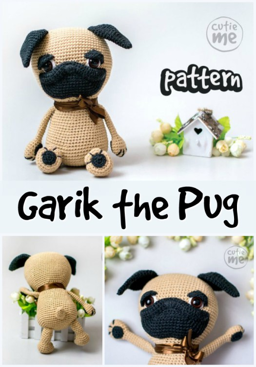 Adorable amigurumi pug dog crochet pattern. I love this adorable and quirky looking crocheted pug! Perfect gift for a child! Good project to make over holidays! #crochet #pattern #amigurumi #stuffies #handmadestuffies #crochettoys #crochetedtoys #giftsforkids #handmadegiftsforkids #crocheteddogs #pugs #pug #yarn #crafts #craftevangelist
