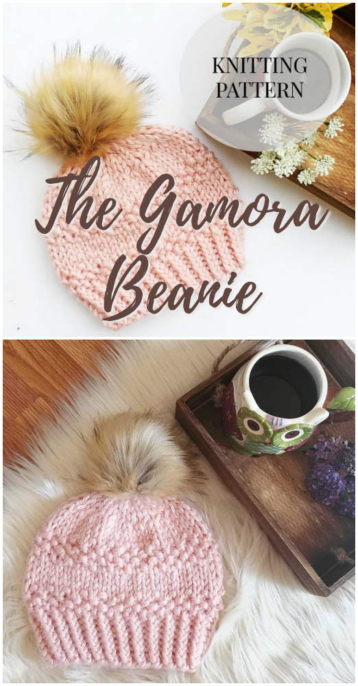 Quick knit beanie pattern makes a great last minute handmade gift idea! Check out this super adorable knit toque pattern! #knitting #pattern #beanie #toque #hat #yarn #crafts #handmadegifts #craftevangelist