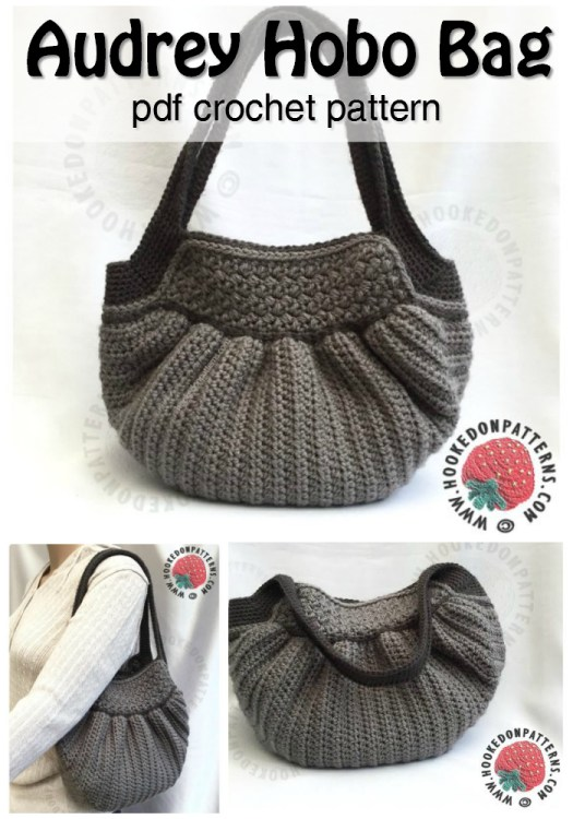 What a cute crocheted handbag! I could totally crochet my own purse with this pattern! #handbag #purse #crochet #pattern #handmade #pdf #download #yarn #crafts #craftevangelist