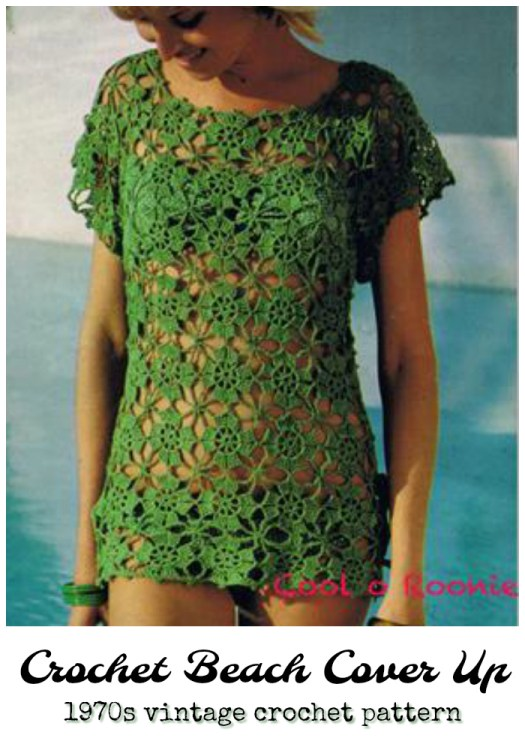 Vintage 1970s crochet beach cover up tunic crochet pattern. Love this sweet vintage pattern! So cute! #crochet #pattern #crochetpattern #vintage #1970 #diy #yarn #crafts #beachwear #craftevangelist