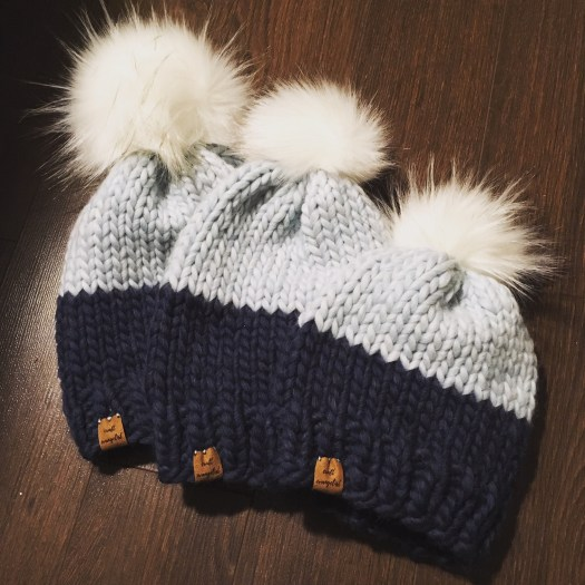 The Frost Beanie in all sizes! Knit by @craftevangelist