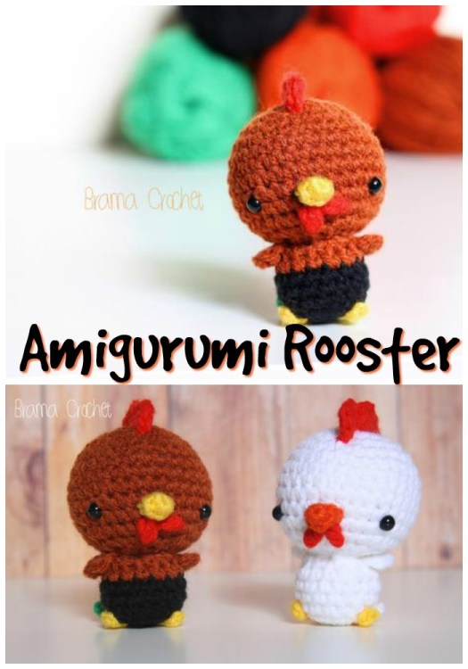 Adorable sweet little rooster. You can get it made to order or buy the pattern and make it yourself! Cute little amigurumi crochet pattern for this adorable stuffed toy! #crochet #amigurumi #pattern #crochetpattern #amigurumipattern #yarn #crafts #handmadetoys #diytoys #craftevangelist