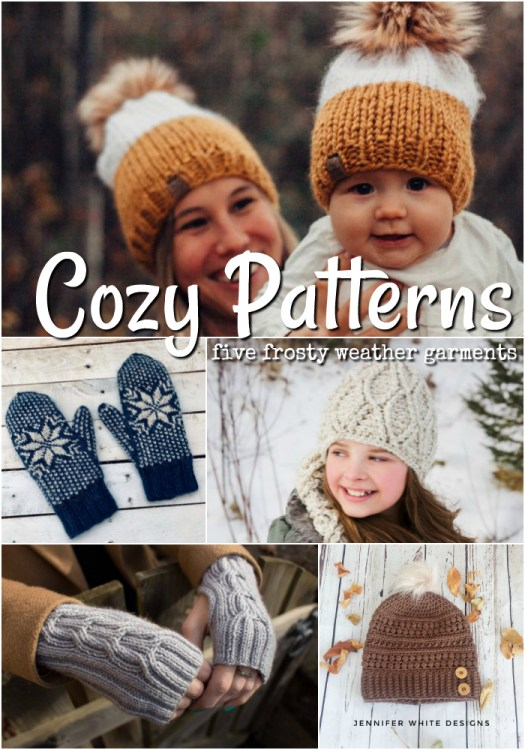 Warm up with these frosty weather knit and crochet patterns. Perfect patterns to make to keep you and your loved ones warm during the polar vortex! #knit #crochet #patterns #knitting #knittingpatterns #crochetpatterns #winterhats #knitbeanie #knittoque #crochettoque #crochetbeanie #crochethat #knithat #knitmitts #crochetmitts #polarvortex #yarn #crafts #craftevangelist