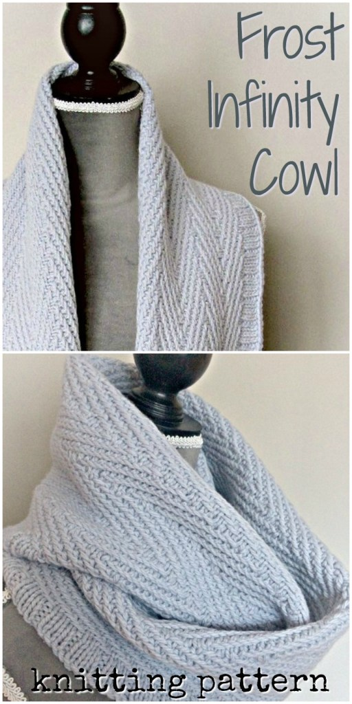 Lovely classic and simple design on this beautiful knitted infinity cowl knitting pattern! I love the drape of this garment. Looks so cozy! #knitting #pattern #cowl #scarf #knittingpattern #knitcowl #knitscarf #yarn #crafts #craftevangelist