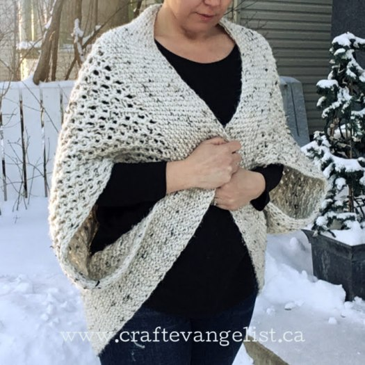 Chrysalis Cardigan FREE Knitting Pattern at www.craftevangelist.ca