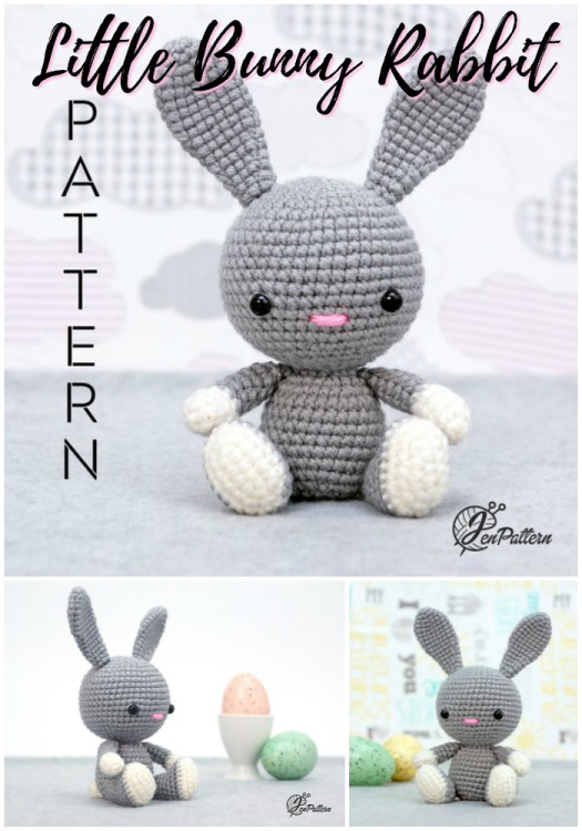 What a sweet little bunny rabbit amigurumi crochet pattern for this adorable little stuffed toy for Easter! Makes a great handmade Easter gift! #crochet #pattern #amigirumi #yarn #crafts #amigurumipattern #crochetpattern #handmadetoys #craftevangelist