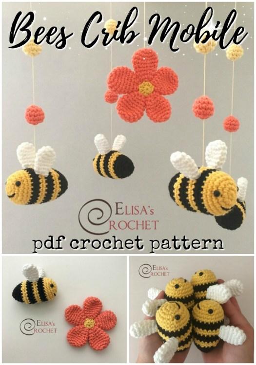 CROCHET PATTERN: Amigurumi Honey Bee in Crochet Beehive (English ... | 750x525