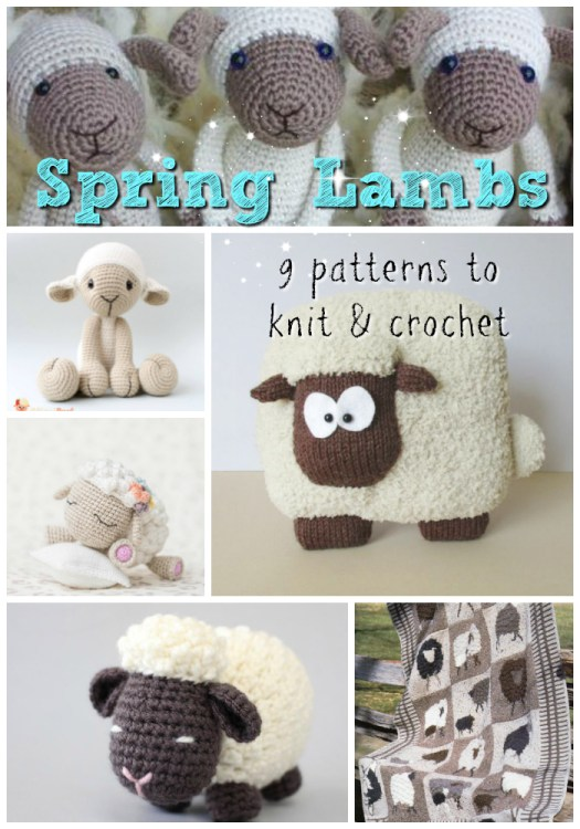 Such adorable sheep-inspired knit and crochet patterns! Love these sweet little lamb patterns! #amigurumi #crochet #pattern #knit #knittingpattern #crochetpattern #blanketpattern #afghan #pillows #diytoys #yarn #crafts #amigurumipattern