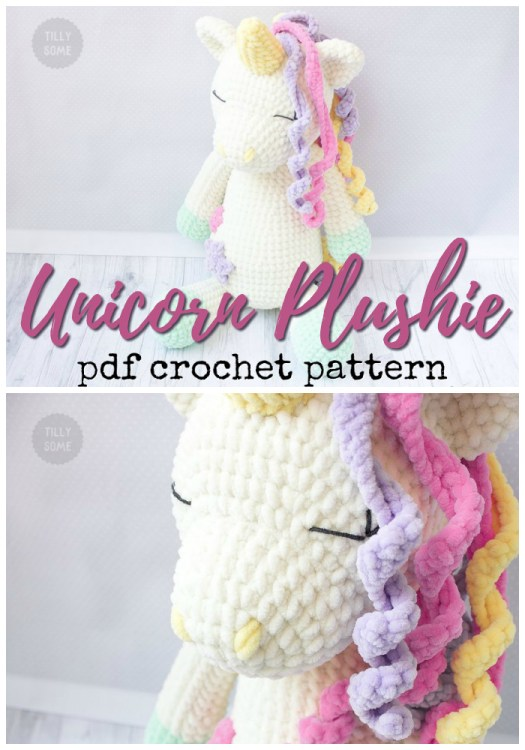 Super soft unicorn plushie amigurumi crochet pattern! Love this soft looking unicorn doll! Can't wait to make one! #amigurumi #pattern #crochet #crochetpattern #amigurumipattern #unicorn #yarn #crafts #unicorndoll #craftevangelist
