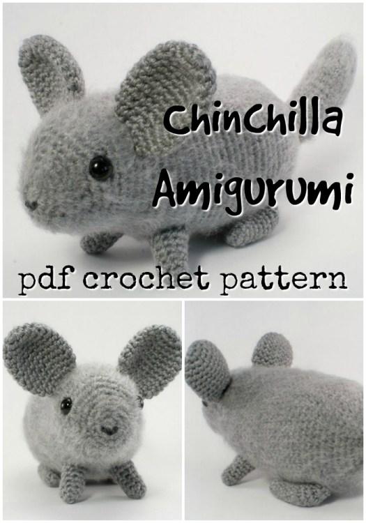 Adorable little chinchilla amigurumi crochet pattern! Love this sweet and charming stuffed toy crochet pattern! #crochetpattern #amigurumipattern #crochet #yarn #crafts #chinchilla #craftevangelist