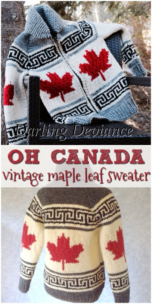 Beautiful Oh Canada vintage maple leaf sweater knitting pattern! Love this pattern. Classic! Happy Canada Day! #knittingpattern #knitsweater #knitting #sweaterpattern #canadasweater #yarn #crafts #pattern #craftevangelist