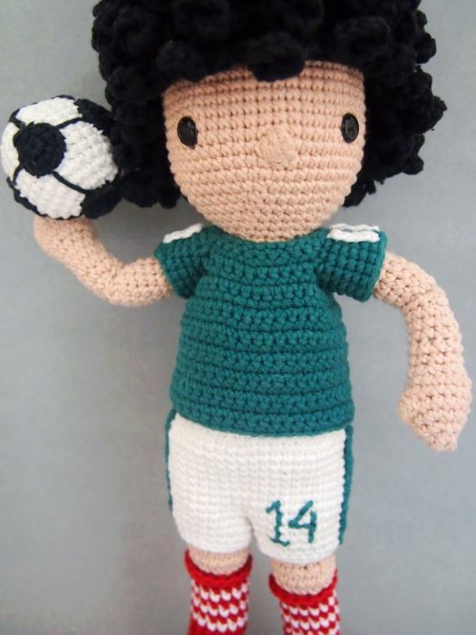 John the Mexican Soccer Player amigurumi crochet pattern