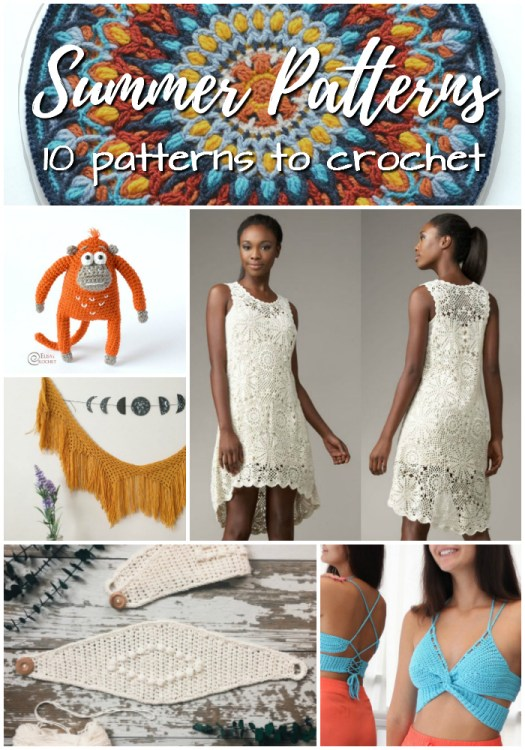 10 beautiful crochet patterns to make this summer! I love that dress! So gorgeous!!! #crochet #patterns #yarn #crafts #patternroundup #crochetpattern #craftevangelist