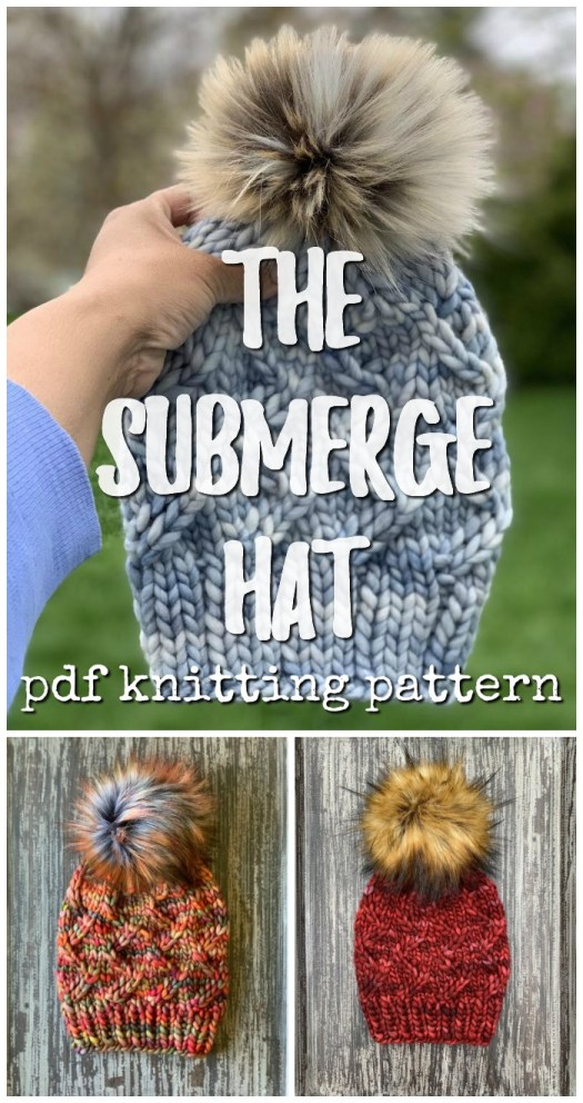 Gorgeous chunky knit hat. Quick and easy knit for an advanced beginner. Use a super bulky yarn for a quick one-evening project! #knitting #knithat #knithatpattern #yarn #crafts #craftevangelist