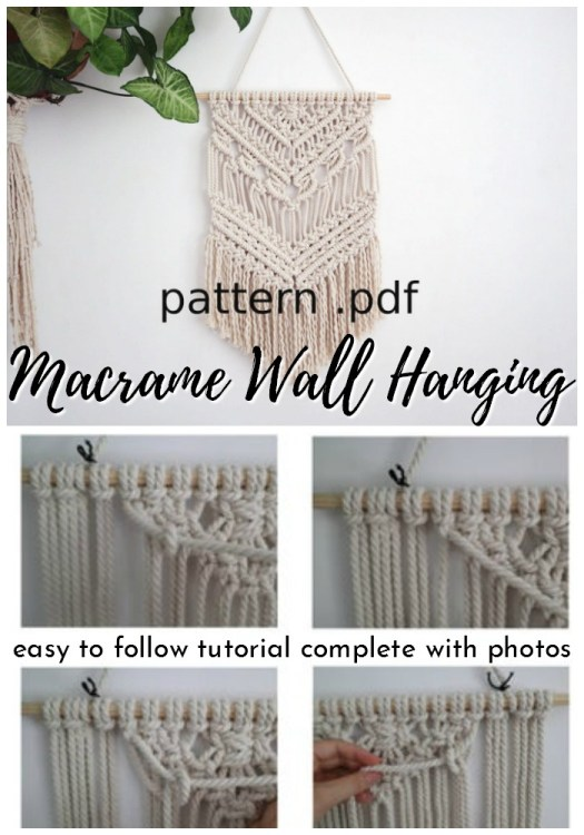 Macrame wall hanging, perfect boho wall decor! I haven't done macrame since I was a kid! This looks so fun. #crochetwallhanging #bohowallhanging #macrame #macramewallhanging #crochetwalldecor #crochetpattern #craftevangelist