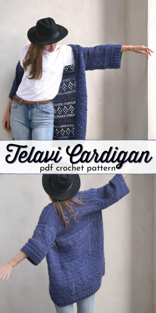 I love the broomstick lace on this Telavi Cardigan, cozy and light and airy, this crocheted cardigan pattern is perfect for spring and fall! #cardiganpatterns #cardigan # crochetcardigan #crochetpattern #craftevangelist
