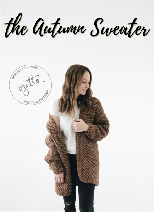 Cozy chunky knitting pattern for this Autumn Sweater in seed stitch! Oh I need to make one of these for winter! #cardiganpatterns #cardigan # knitcardigan #knittingpattern #craftevangelist