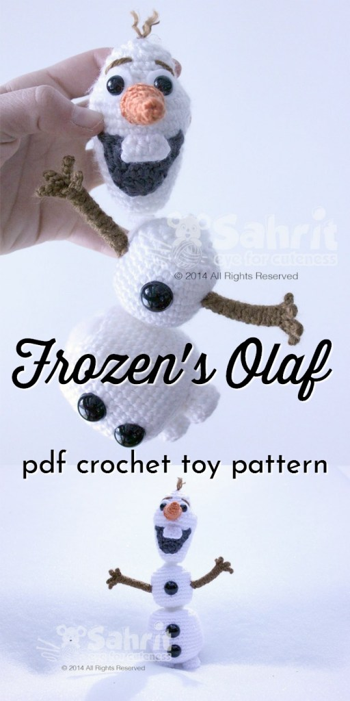 Fun and functional detachable Olaf toy crochet pattern! What a fun handmade gift idea, Frozen-inspired amigurumi pattern. #amigurumipattern #frozen #toypattern #yarn #crafts #diytoys #handmadegiftideas #crochetpattern