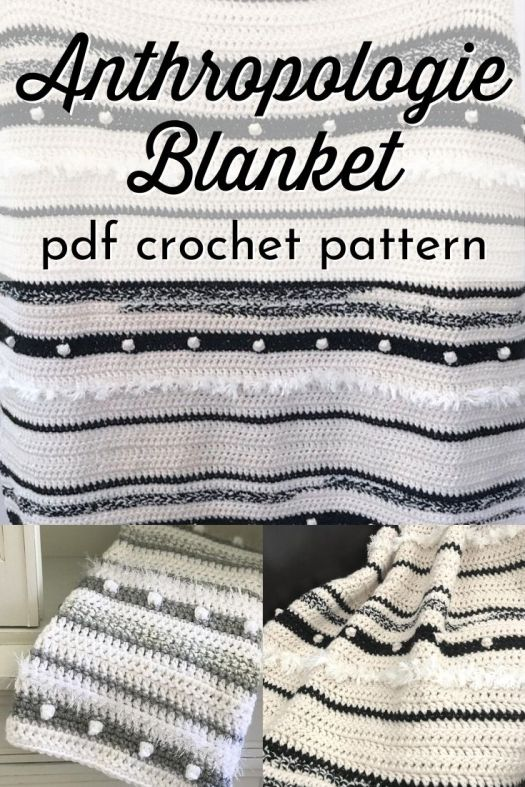 Lovely boho style Anthropologie-Inspired crochet blanket pattern with multiple yarns and textures to add luxury and style to this crochet afghan. Mix your favourite colours to make a gorgeous crochet throw blanket! #crochetblanketpattern #crochetafghanpattern #crochetthrowpattern #craftevangelist