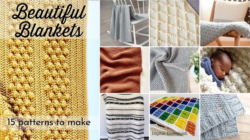 15 beautiful blanket patterns to knit and crochet