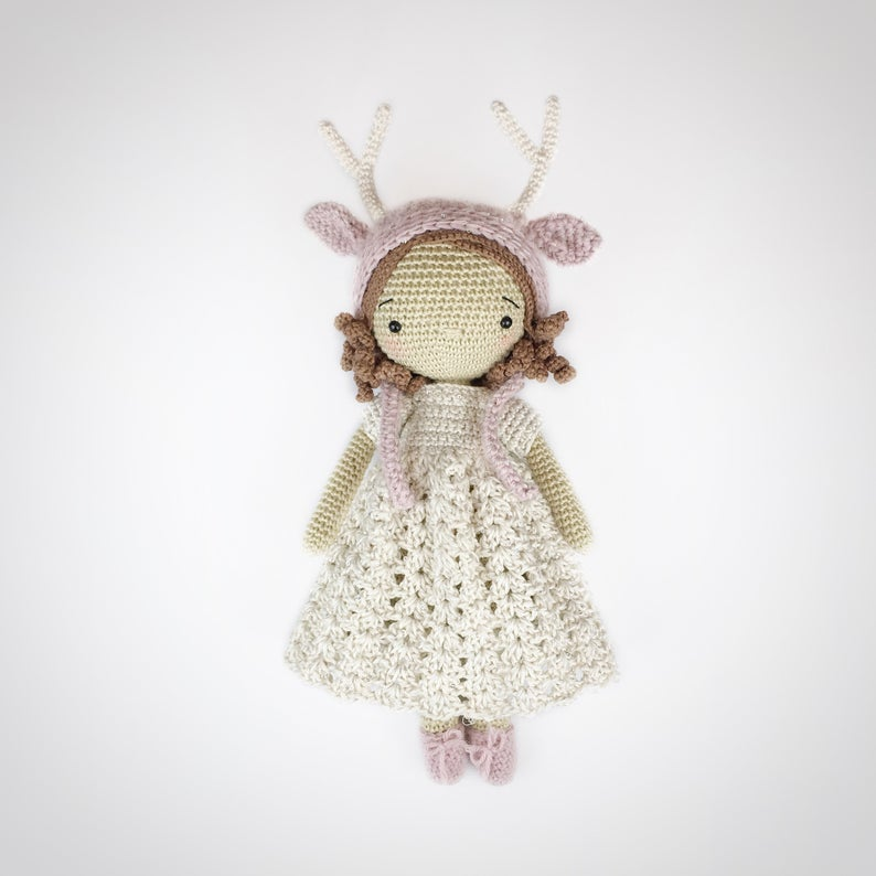 Cute Doll Toy Knitting Crochet Embroidery Adults Starter Kit Handmade Craft