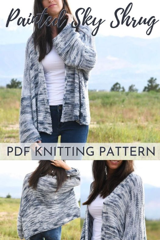 Easy beginner sweater knitting pattern. Lovely simple shrug cardigan knitting pattern, perfect for spring. #knittingpattern #knitsweaterpattern #knitcardiganpattern #knitshrugpattern #beginnerknittingpattern #easyknittingpattern #mamainastitch #craftevangelist