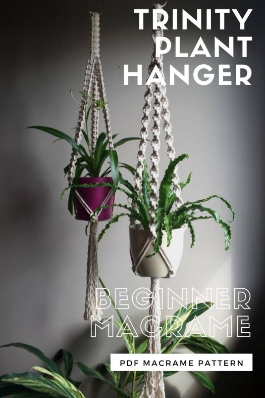Learn to macrame with this beginner plant hanger macrame pattern! This is such an awesome vintage throwback and so trendy right now! Breath some life into your indoor decor with these lovely plant hangers! #macramepattern #planthangers #diyplanthanger #learntomacrame #beginnermacrame #planthangerpattern #craftevangelist