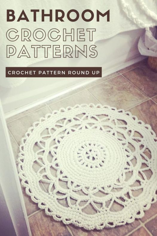 Bathroom Crochet Patterns - crochet patterns for bathroom accessories and touches of homeyness in the bathroom! #crochetpattern #bathroomcrochet #homedecor #crochetdecor #craftevangelist