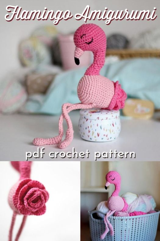 Such a fun amigurumi pattern! I love this crocheted flamingo! Such a fun idea for a handmade gift idea. Wouldn't it be great as a grow with me doll?! Love it! #crochetpattern #amigurumipattern #flamingopattern #crochetflamingo #craftevangelist