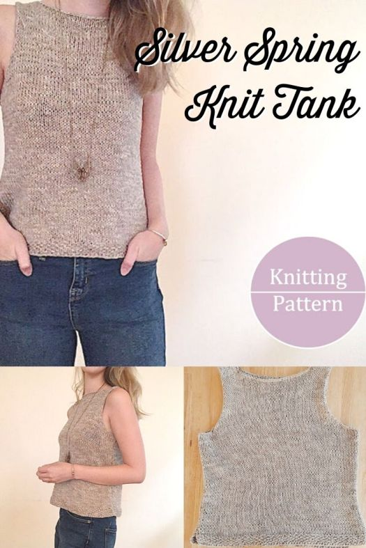 Gorgeous, classy and simple knit tank top knitting pattern. Love this stylish and refined easy knitting pattern. Wear it to the office or out and about. #knittingpattern #summerknits #knittoppattern #craftevangelist