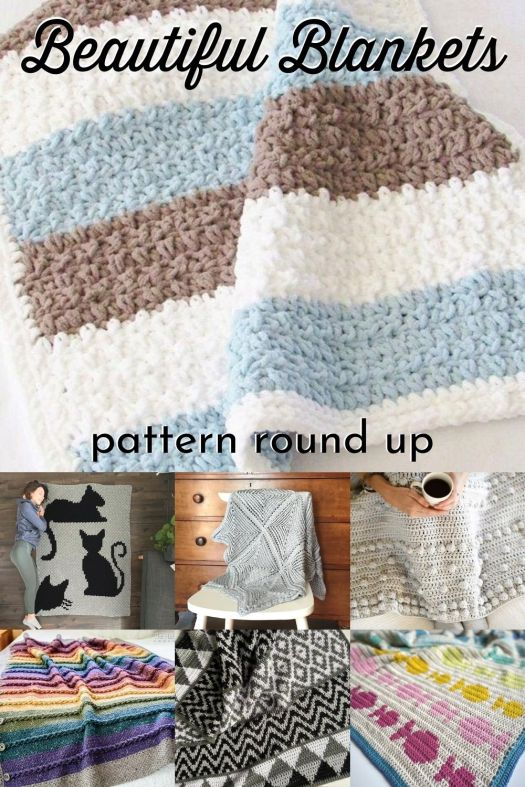 What a fantastic collection of knit and crochet blanket patterns! Just in time for fall; knit or crochet yourself a new afghan! #knittingpattern #crochetpattern #blanketpattern #knitblanketpattern #crochetblanketpattern #crafts #yarn #craftevangelist