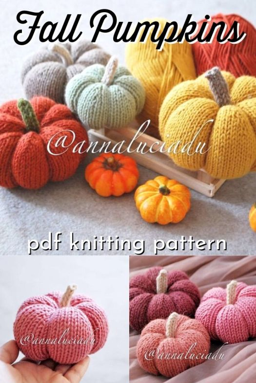 Fall pumpkins knitting pattern. This is such a fun and simple knitting pattern to make these cute little fall pumpkin decorations. Perfect accessory for fall mantel decor and perfect to make as gifts or market selling items. #knittingpattern #knitpumpkins #knitforfall #falldecor #pumpkindecor #crafts #yarn #craftevangelist