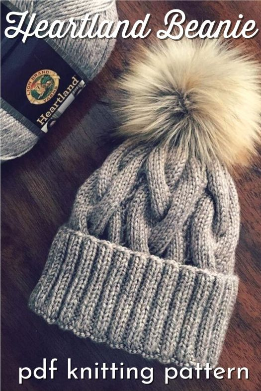 Beautiful classic cable knit beanie pattern. Such a lovely and warm hat with a thick ribbed brim to fold up and keep your ears extra warm! #knittingpattern #knitbeaniepattern #knithatpattern #knithat #knittoquepattern #toquepattern #cableknit #cableknitpattern #cableknithat #KnitsbyJennyBoutique #craftevangelist