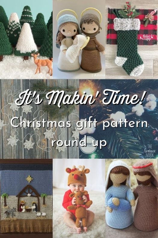 Great collection of patterns to make for Christmas! Christmas ornaments, Christmas hats, stockings, nativity sets, wall hangings and garlands! Can't wait to make some of these great patterns! #crochet #knit #crochetpatterns #knitpatterns #crochetforchristmas #CraftEvangelist