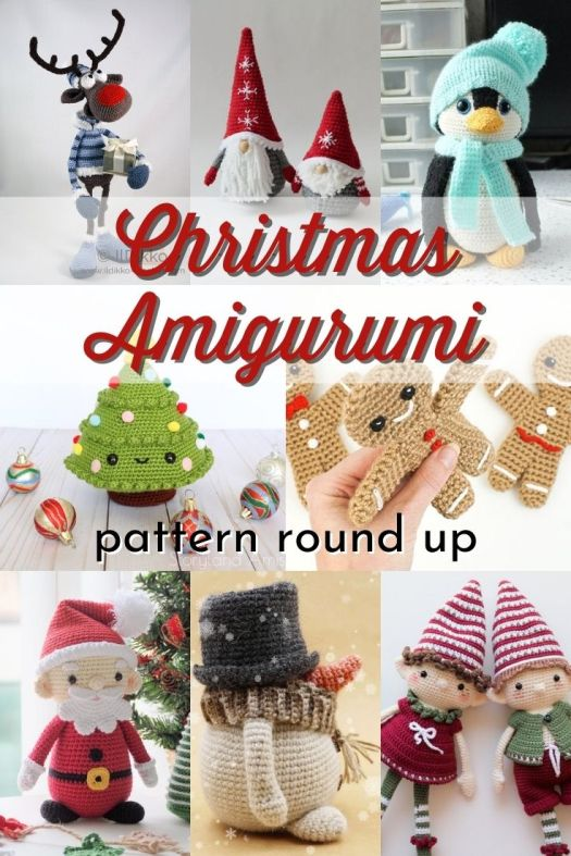 Sweet collection of Christmas amigurumi patterns to make as gifts and holiday decor! Learn to crochet and make your own diy handmade Christmas gifts! Perfect handmade stuffed toys for kids' Christmas gifts! #crochetpatterns #amigurumipatterns #christmascrochet #christmasdiy #handmadegifts #patternroundup #craftevangelist