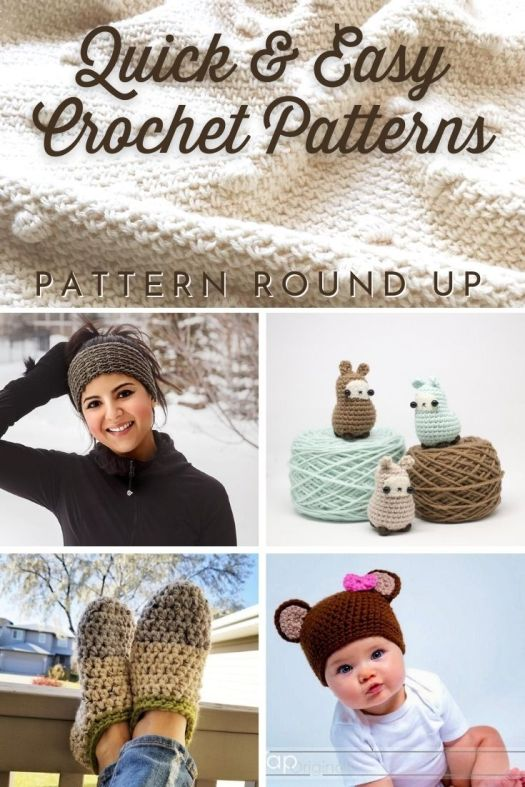 Quick and easy crochet patterns for the beginner crocheter to learn to crochet! Great variety of patterns to make from amigurumi to hats and headbands and slippers. #crochetpatterns #beginnercrochetpatterns #learntocrochet #patternroundup #craftevangelist