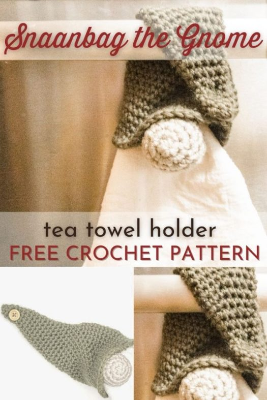 Free crochet pattern! Direct link to this adorable Scandinavian Gnome tea towel topper to hold your tea towel! Has a wooden ring to hold any tea towel you like! Makes a great quick last minute handmade gift idea! #crochetpattern #freecrochetpattern #freepattern #scandinaviangnome #gnomepattern #crochetgnome #quickcrochetedchristmasgifts  #CraftEvangelist