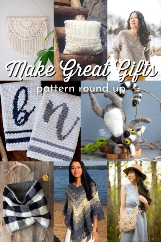 It's not too early to start thinking about making handmade Christmas gifts! Here's a great collection of easy knit and crochet patterns that make great handmade gifts! #patterns #PatternRoundUp #KnittingPatterns #CrochetPatterns #HandmadeGiftIdeas #KnitGifts #CrochetGifts #MakeForChristmas #HandmadeChristmas #CraftEvangelist