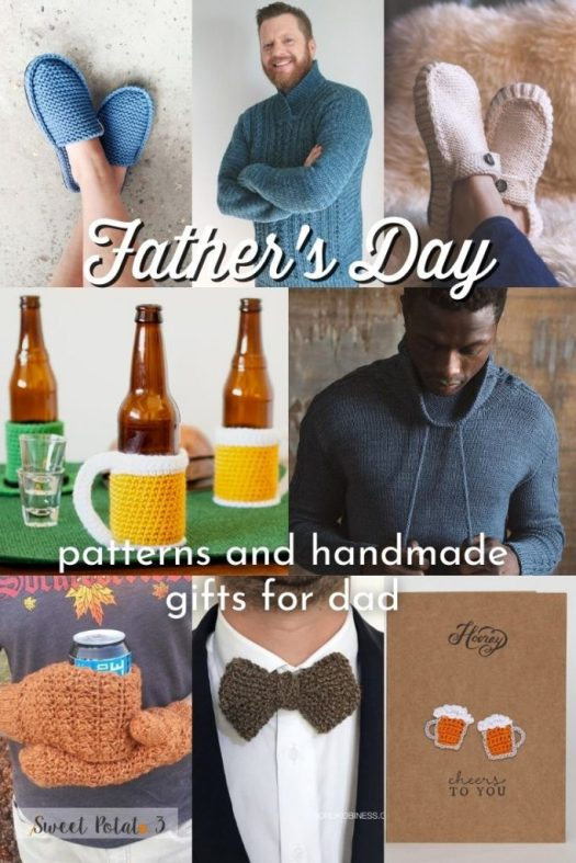 Make something special for your dad this Father's Day with this collection of amazing knit and crochet patterns. Or paint your own custom DIY painting! #patterns #KnittingPatterns #KnitForMen #CrochetForMen #FathersDay #CrochetPatterns #CrochetForDad #KnitForDad #DIY #DIYForDad