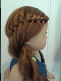 On Saige I did the waterfall braid on one side and added it into a rope braid on the side.