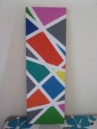 colorful canvas w. stripes